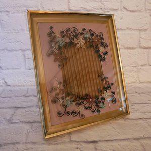 Vintage Wedding Invitation Artsy Keepsake Frame